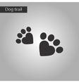 black and white style icon cat tracks vector image