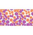 orange and violet flowers vector image