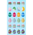 24 easter eggs vector image