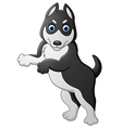 a funny cheerful dog standing vector image vector image
