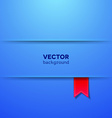 Abstract background with paper layers and ribbon vector image vector image