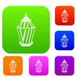 arabic lantern set collection vector image vector image