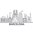 barcelona architecture line skyline vector image vector image