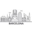 barcelona architecture line skyline