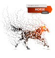 beautiful horse - abstract dot vector image vector image