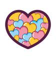 beauty heart symbol decoration style vector image vector image