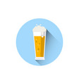 beer glass icon oktoberfest festival holiday vector image vector image