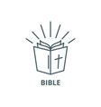 bible line icon bible outline sign vector image