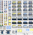Big set windows balconies and other for building vector image vector image