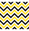 black and yellow chevron retro decorative pattern vector image