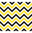 black and yellow chevron retro decorative pattern vector image vector image