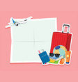 blank note with travel object vector image vector image