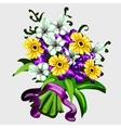 bouquet flowers for decor other design needs vector image vector image