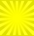bright yellow rays background vector image vector image