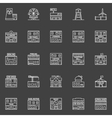 Buildings and constructions icons vector image vector image
