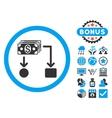 Cashflow Flat Icon with Bonus vector image vector image