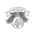 christmas hand drawn logo vector image vector image