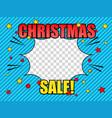 comic christmas sale light concept vector image vector image