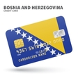 Credit card with Bosnia and Herzegovina flag vector image vector image