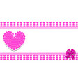 cute template with pink hearts pattern vector image