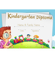 Diploma template for kindergarten students vector image vector image