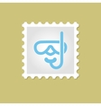 Diving Mask stamp vector image