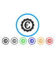euro quality stamp rounded icon vector image vector image