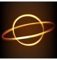 Fire-show style sign of planet vector image vector image