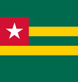 flag in colors of togo image vector image vector image