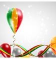 Flag of Mali on balloon vector image vector image