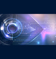 futuristic background cyber eye theme vector image vector image