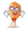 geek fried chicken character cartoon vector image vector image