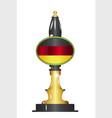 german flag beer pump vector image vector image