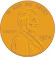 golden liberty coin vector image vector image
