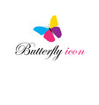graphics icon beautiful multicolored butterfly vector image vector image