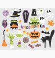 happy halloween flat design vector image