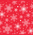 holiday white red hand drawn christmass vector image