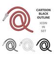hose icon icon cartoon single silhouette vector image vector image