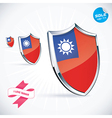 I Love Taiwan Flag vector image vector image