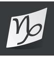 Monochrome Capricorn sticker vector image vector image