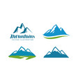 mountains rock logo or label mountaineering vector image