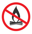 no open flame sign no fire no access with open vector image vector image