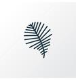 palm leaf icon line symbol premium quality vector image
