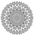 patterned mandala vector image