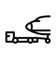 plane tow truck icon outline vector image vector image