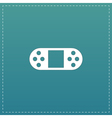Portable Video Game Console Isolated vector image vector image