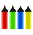 realistic colorful neon markers vector image