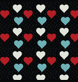romantic cute pattern with hearts vector image