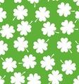 Seamless Pattern with Clover Background for Luck vector image vector image
