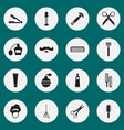 set of 16 editable hairdresser icons includes vector image